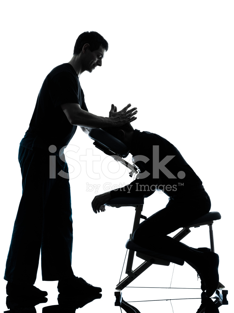 766x1024 Back Massage Therapy With Chair Silhouette Stock Photos