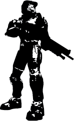 148x242 Master Chief Silhouette Silhouette Of Master Chief