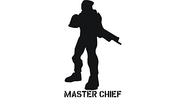 600x350 Master Chief Silhouette Vinyl Art Amazon.co.uk Kitchen Amp Home