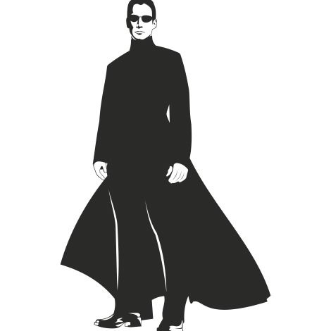 470x470 Neo Matrix Silhouette Portrait Of Keanu Reeves Free Vector