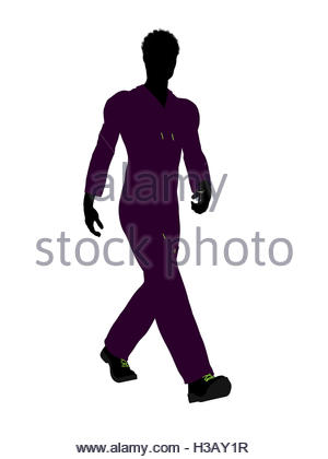 300x420 African American Mechanic Silhouette Stock Photo, Royalty Free