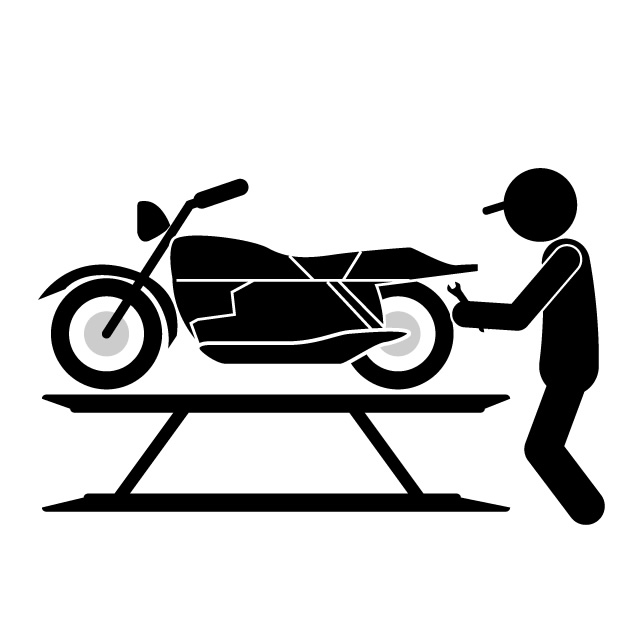 640x640 Motorcycle Mechanic Bike Work Illustration Free Material