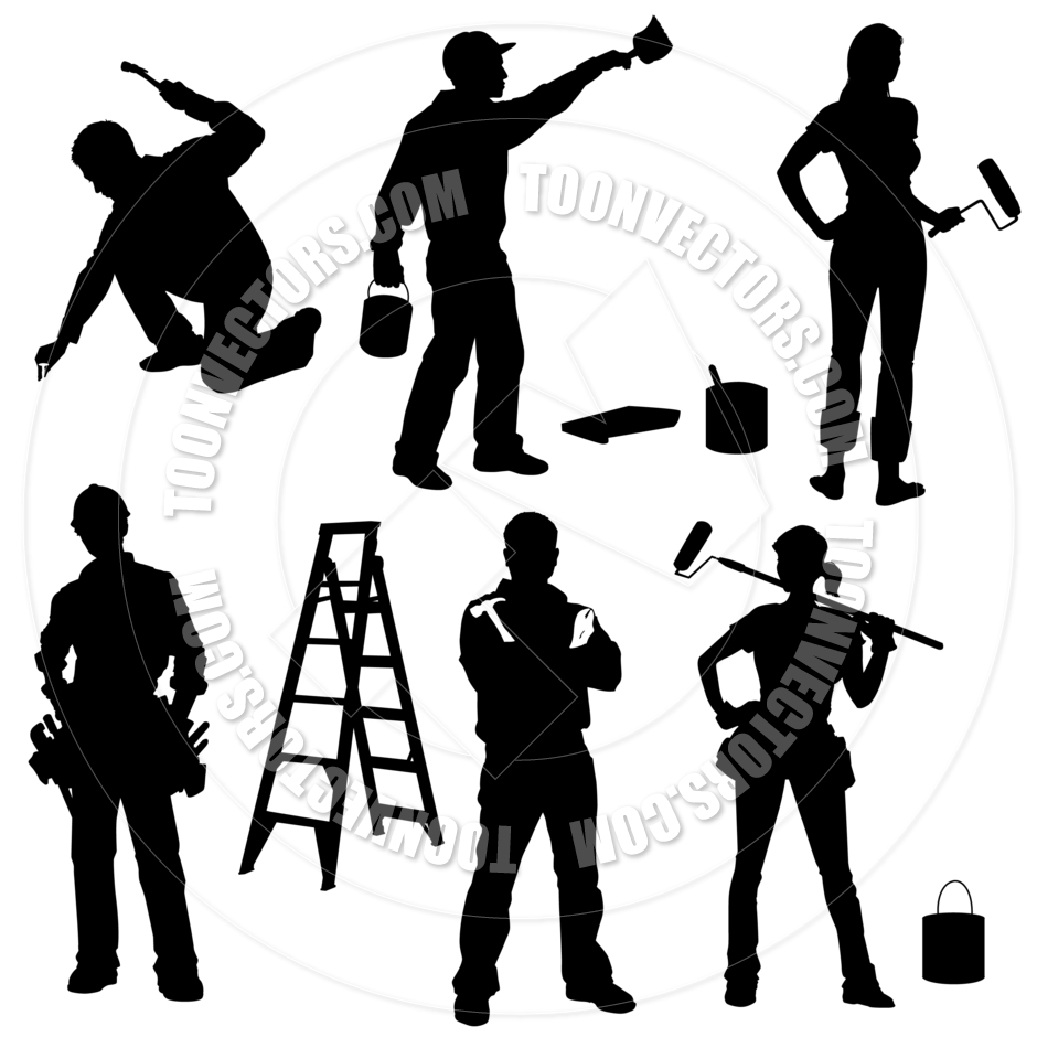 940x940 Home Improvement Silhouettes By Koq Creative Toon Vectors Eps