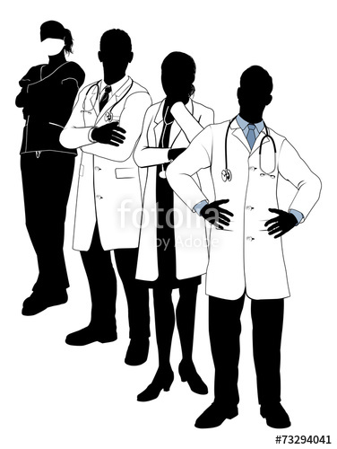 376x500 Medical Team Silhouettes Stock Image And Royalty Free Vector