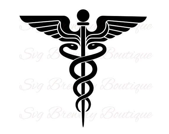 570x452 Caduceus, Medical, Nurse, Svg, Png, Dxf, For Cricut, Silhouette