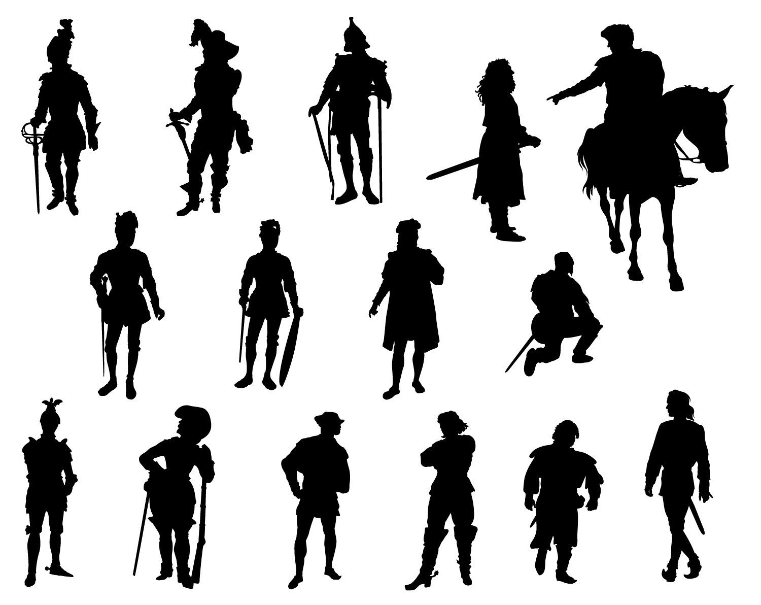 1500x1192 Knights Pirate Svg Silhouette Cameo Cricut Png Vector Editable Men