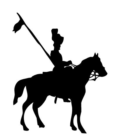 401x480 Medieval Silhouette 2 Decal Sticker