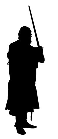 200x480 Medieval Silhouette 5 Decal Sticker
