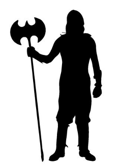 234x330 Medieval Silhouette 6 Decal Sticker