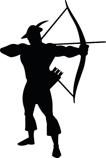 339x507 Archer Silhouette Stock Vectors