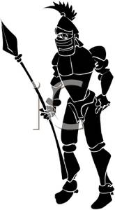 165x300 Silhouette Of A Medieval Knight Holding A Spear