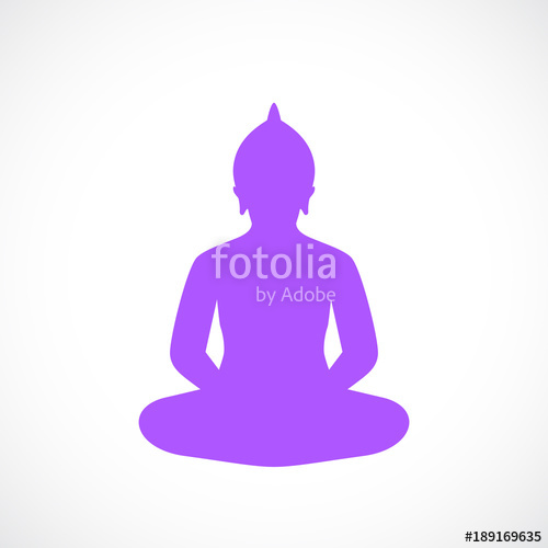Meditating Buddha Silhouette at GetDrawings com | Free for