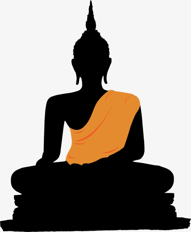650x788 Silhouette Of Buddha, Buddha, Buddhism, Golden Buddha Png