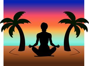 300x222 Meditation Clipart Island Sunset