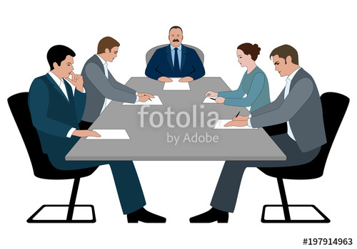 500x350 Business Meeting And Business Conference Concept. Boss And Staff
