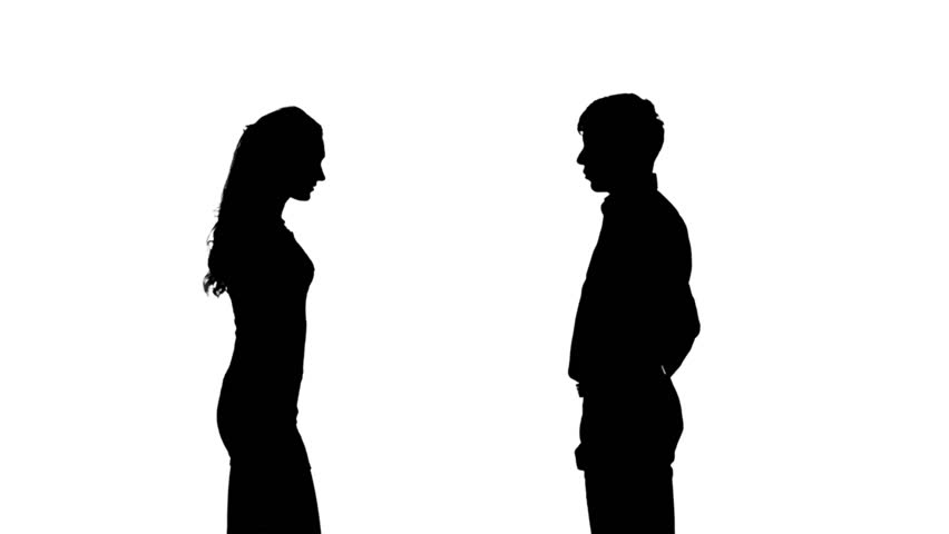 852x480 Silhouette Of Two Women Meeting And Talking, Full Hd Footage