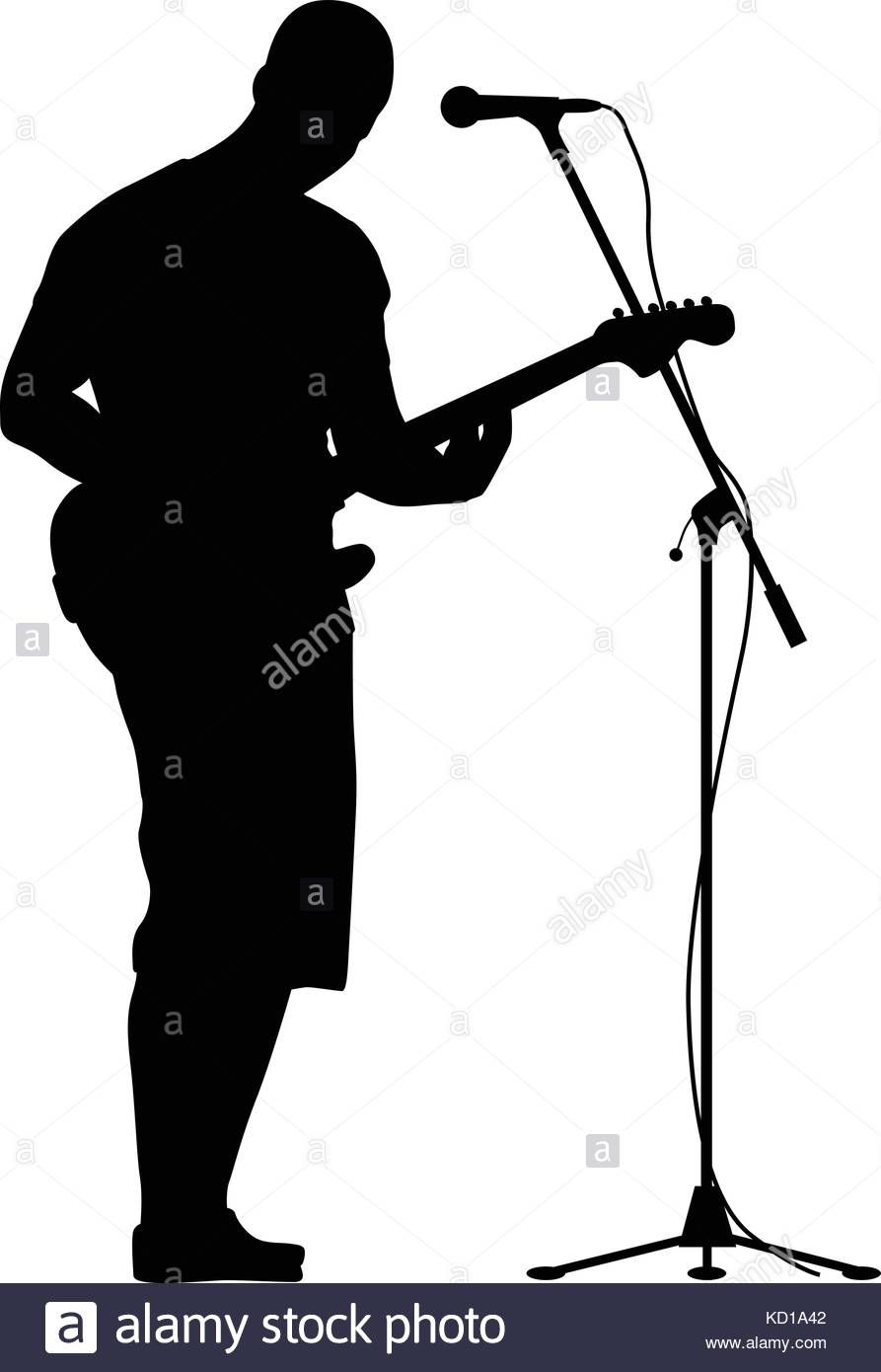 893x1390 Silhouettes Of Woman Singing And Using Megaphone Royalty Free