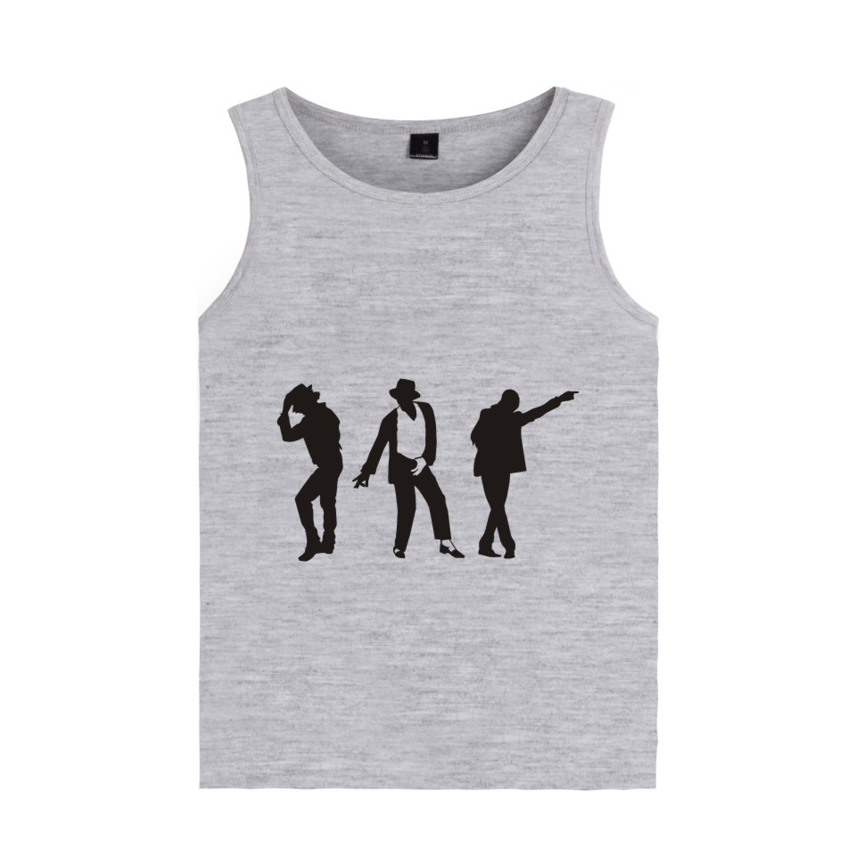 960x960 Michael Jackson Moonwalk Silhouette Tank Tops Fashion Casual Men