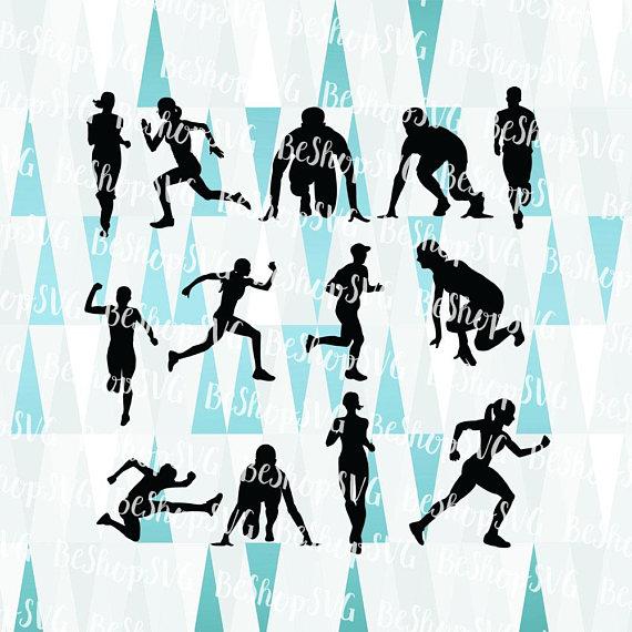 570x570 Runner Silhouette Svg, Running Women Svg, Running Men Svg