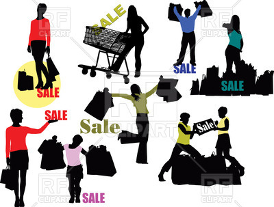 400x303 Shopping People Silhouettes