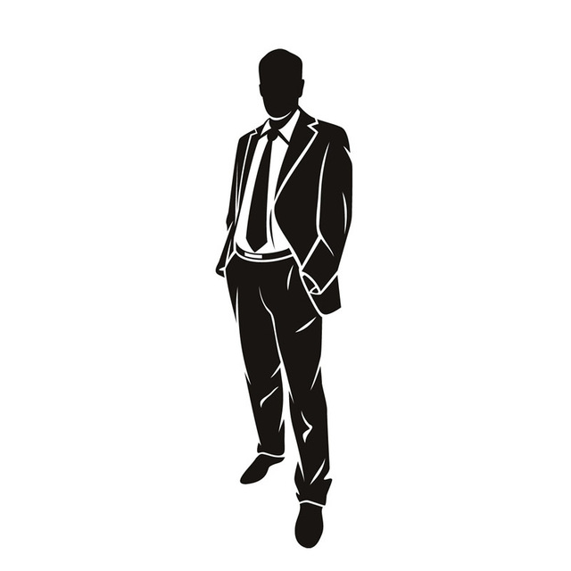 640x640 Pvc Home Decor Waterproof Removable Self Adhesive A Business Man