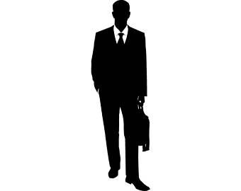 340x270 Suit Clipart Man In Black