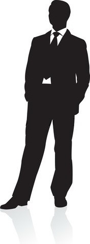 177x480 Business Man In Suit Clipart 2113318. Silhouette Young Man In Suit