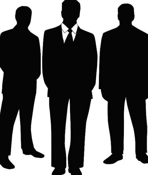 516x608 Business Men, Silhouettes, Outlines, Black Suits, Bodyguards