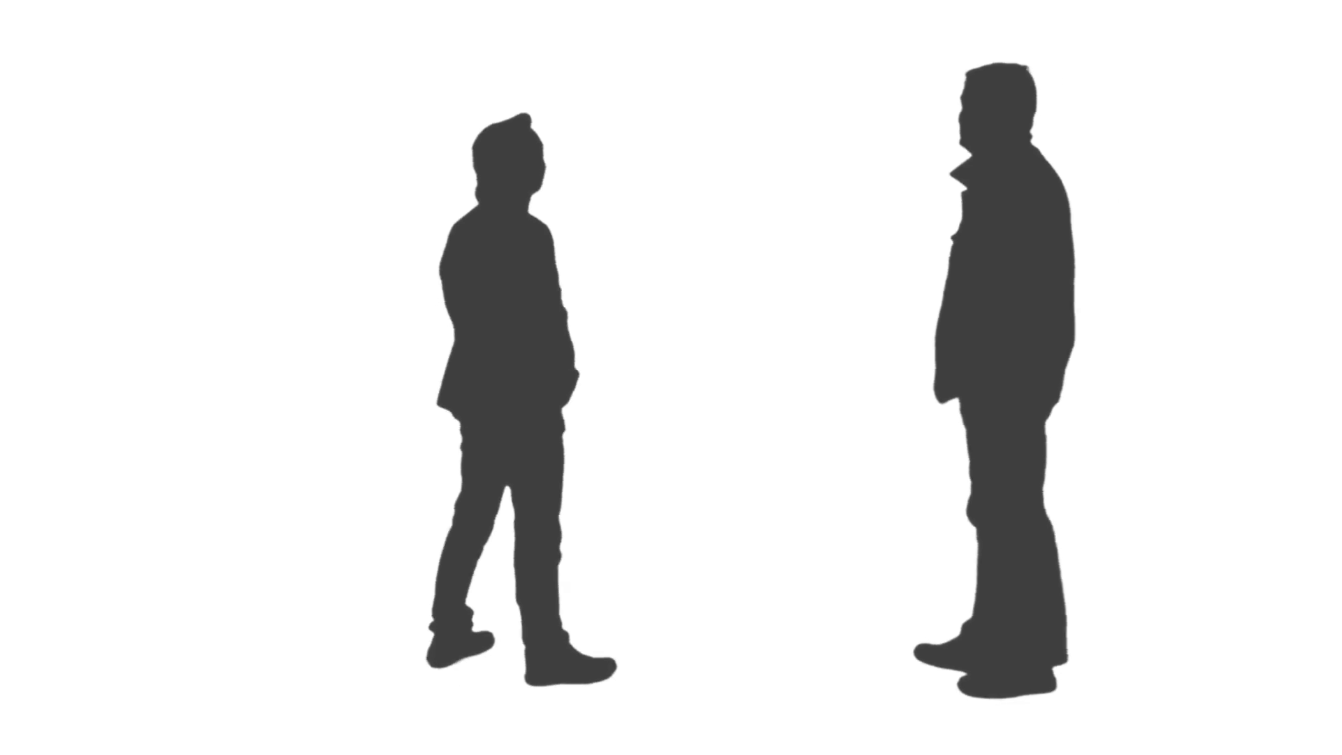 1920x1080 Silhouette Of Two Men Looking