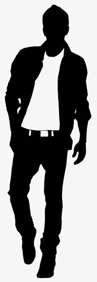 192x557 Men's Fashion Silhouettes Vector Material, Manhunt, Men'S, Apparel