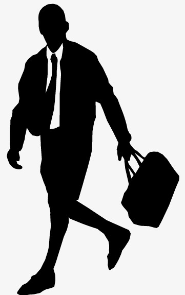 361x573 Men's Fashion Silhouettes Vector Material, Manhunt, Satchel, Men'S