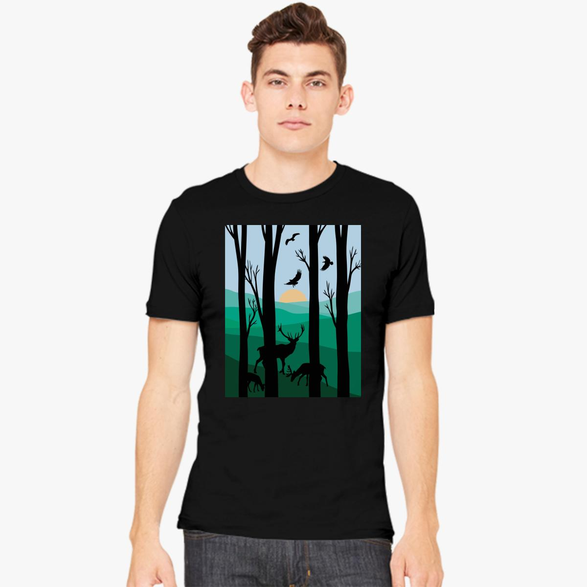 1200x1200 Forest Silhouette Men's T Shirt