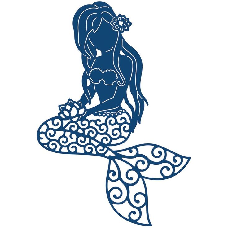 736x736 Mermaid Silhouette