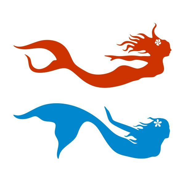 600x600 Mermaid Silhouette Svg Cuttable Design Crew Creations Business