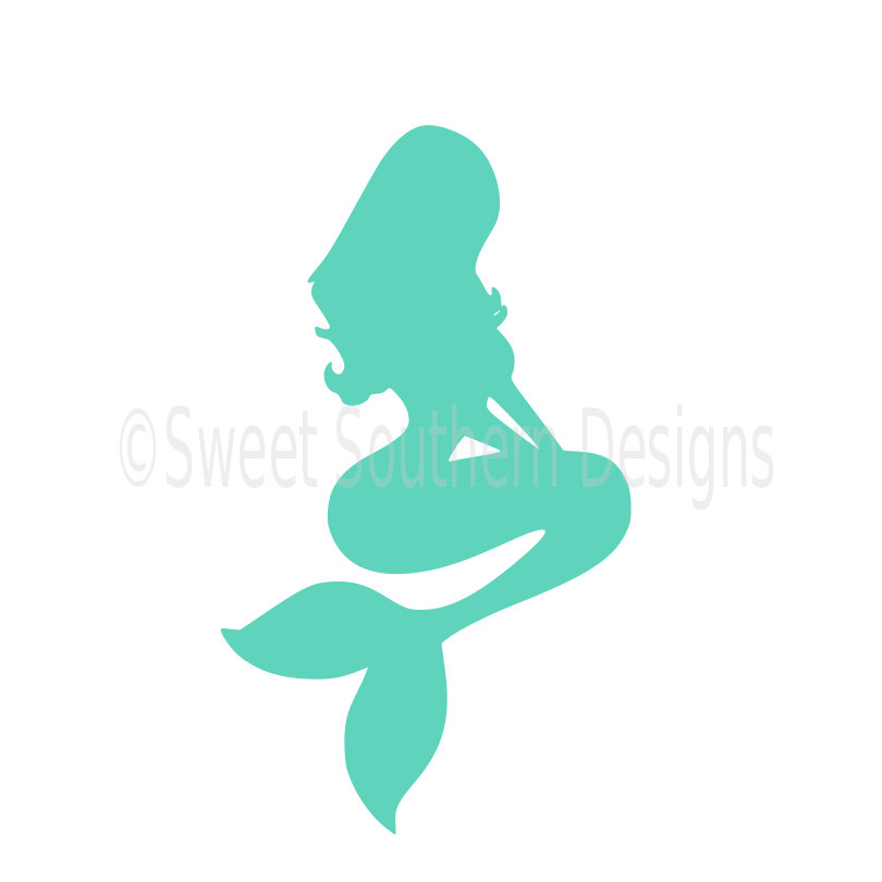 810x810 Mermaid Silhouette Outline Svg Instant Download Design For Cricut