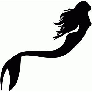 300x300 Pretty Mermaid Pretty Mermaids, Silhouette Design And Mermaid