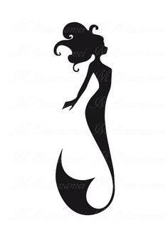 236x333 Mermaid Silhouette