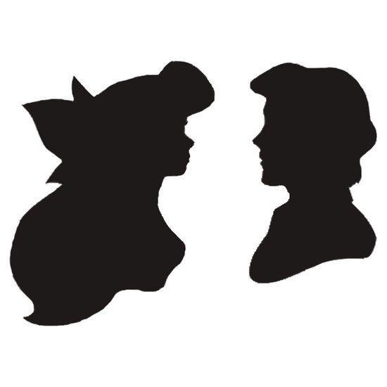 550x550 Silhouette Clipart Little Mermaid'07058