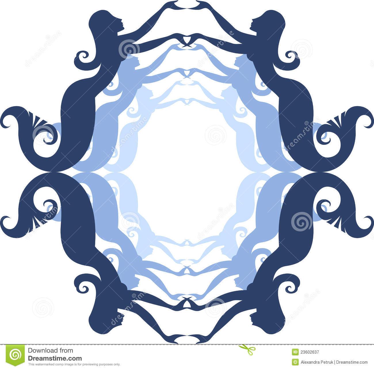 1300x1287 Mermaid Silhouette Clipart