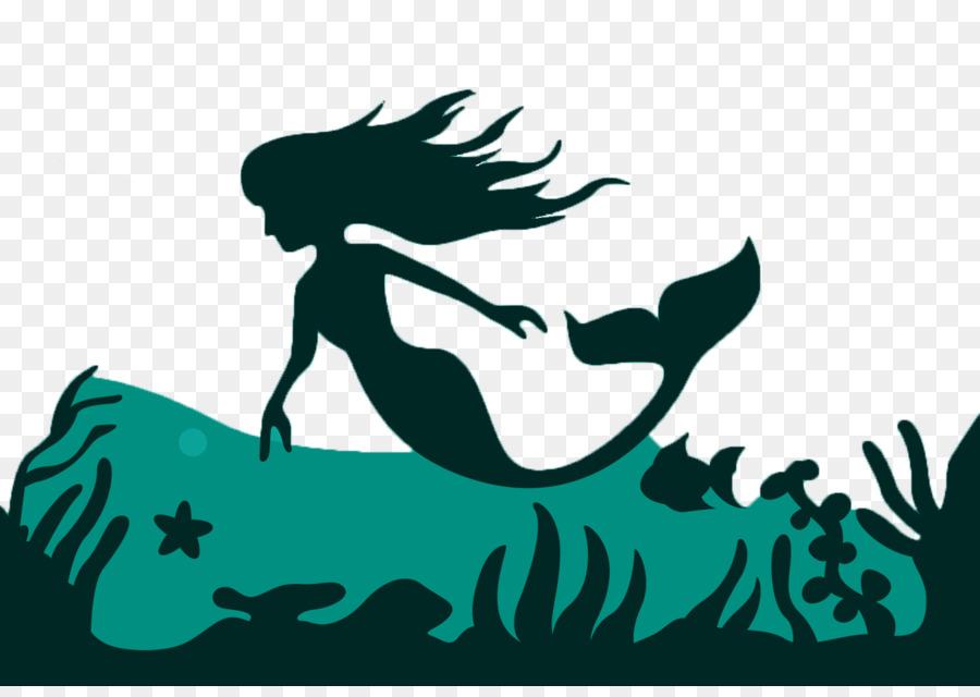 900x640 Mermaid Silhouette Fairy Tale Illustration