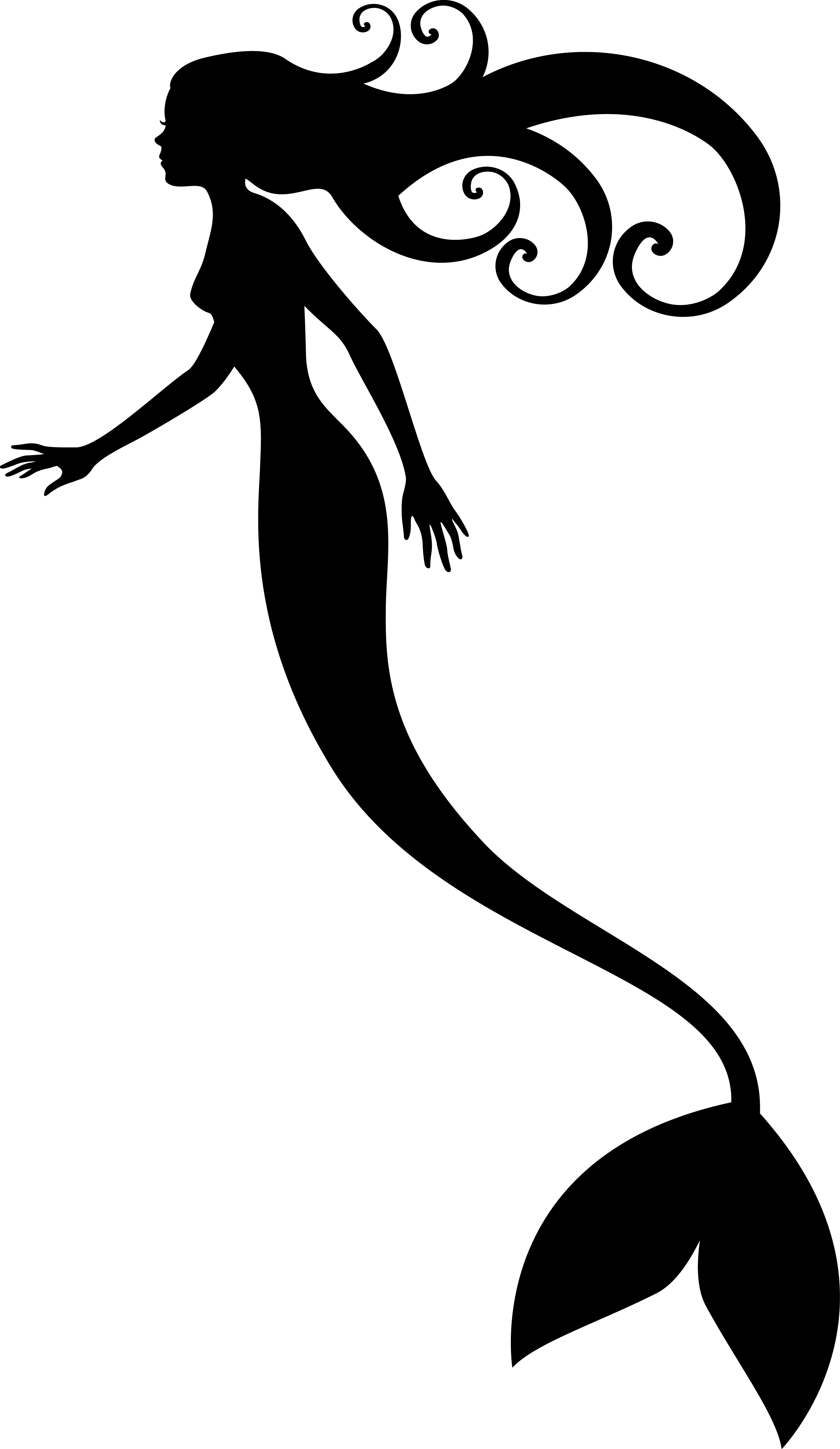 2358x4063 Mermaid Silhouette Free Download Clip Art On In Printable Ariel