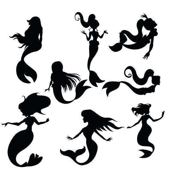 570x570 Mermaid Silhouette Mermaid Silhouette Png