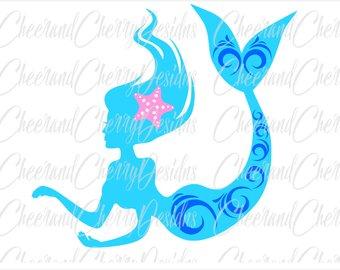 340x270 Mermaid Silhouette Etsy