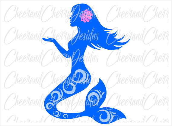 570x419 Mermaid Svg Mermaid Clipart Mermaid Dxf Mermaid Party Svg Mermaid