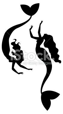 211x380 Mermaid Silhouettes Mermaid Silhouette, Vector Art And Art
