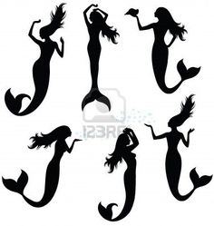 236x249 Mermaid Silhouette Vector Clipart Panda