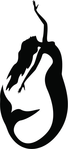 281x609 Cool Mermaid Tattoo Tatoo Vector Art, Mermaid
