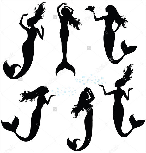 Mermaid Tail Silhouette
