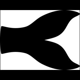 263x262 Fish Tail Silhouette Mermaid Baby Shower Fish Tail