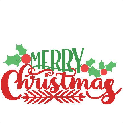 432x432 Merry Christmas Phrase Svg Scrapbook Cut File Cute Clipart Files